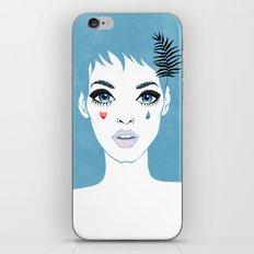 Сrying girl iPhone & iPod Skin