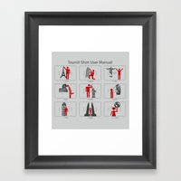 Tourist Shot User Manual Framed Art Print