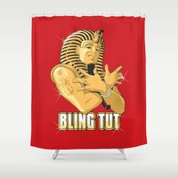 Bling Tut Shower Curtain