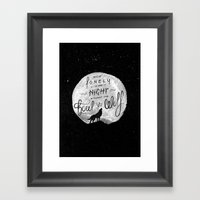 How Lonely The Night Framed Art Print