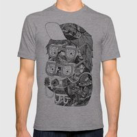 hipster Mens Fitted Tee Athletic Grey SMALL