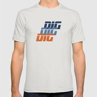 DIG Mens Fitted Tee Silver SMALL
