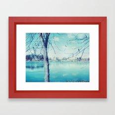 Hunter Valley Gardens Polaroid Framed Art Print