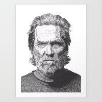 Art Print featuring Jeff 2 by Rik Reimert
