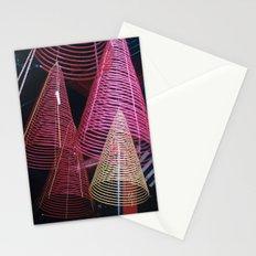 RED SPIRALS - Vietnam - Asia Stationery Cards
