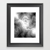 Map Of North And Central… Framed Art Print