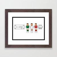 Italian Football - Catenaccio Framed Art Print