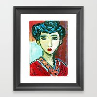 LADY MATISSE IN TEEN YEA… Framed Art Print