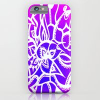 iPhone & iPod Case featuring Pink & Purple Love by ElifsArt