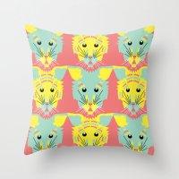 Litter Of Kittens Throw Pillow