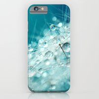 iPhone Cases featuring Dandy Starburst in Blue by Sharon Johnstone