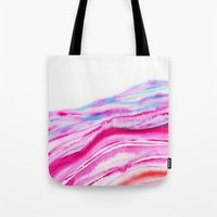 AGATE Inspired Watercolor Abstract 08 Tote Bag