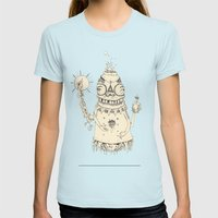 High Mr Meatbell Womens Fitted Tee Light Blue SMALL