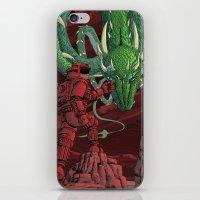 The Dragon on Mars iPhone & iPod Skin