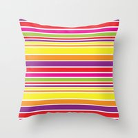 Sunshine Stripe Throw Pillow