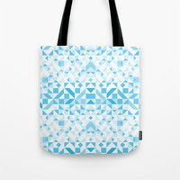 Geomtric Pastel Wave Tote Bag