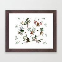 Monkey World - White Framed Art Print