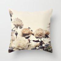Yellow Rose Garden Throw Pillow