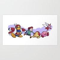 Kirby Friends Art Print