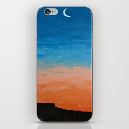 Pre-Dawn Moonrise, painting iPhone & iPod Skin
