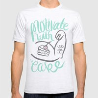 Motivate with Cake Mens Fitted Tee Ash Grey SMALL