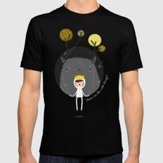 Where are the wild things? SMALL Mens Fitted Tee Black