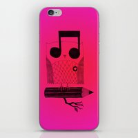 Owl Night Long iPhone & iPod Skin