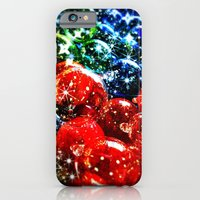 iPhone Cases featuring Christmas Sparkles by Nicklas Gustafsson
