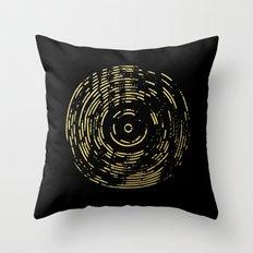 Gold Disc Throw Pillow
