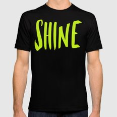 Shine Mens Fitted Tee Black SMALL