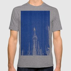 Night of Blue over Milan Mens Fitted Tee Athletic Grey SMALL