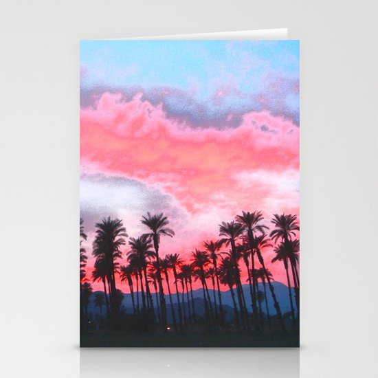 Coachella Sunset Stationery Card