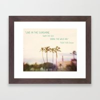 Sunshine, Sea, Air Framed Art Print