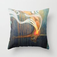 An Image of Dying Throw Pillow