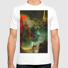 The city which fell asleep Mens Fitted Tee White SMALL