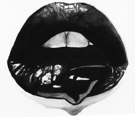 Ink Lips Art Print