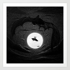 Drawlloween 2014: Bat Art Print