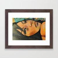 Lindy (detail) Framed Art Print