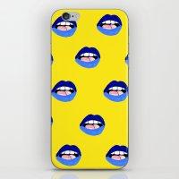 Blue Lips iPhone & iPod Skin