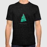 wish you a merry christmas! Mens Fitted Tee Tri-Black SMALL