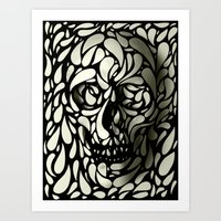 sexy Art Prints featuring Skull by Ali GULEC