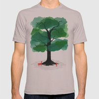 Man & Nature - The Tree … Mens Fitted Tee Cinder SMALL