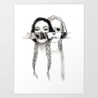 Flesh, Bone, And Braids Art Print
