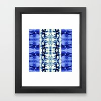 Tie Dye Blues Framed Art Print