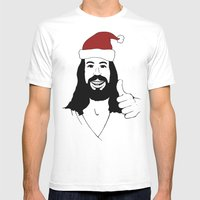 Merry Christmas Jesus Mens Fitted Tee White SMALL