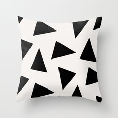 Black Triangle Pattern I… Throw Pillow