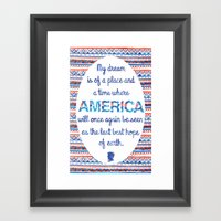 Abraham Lincoln Quote Framed Art Print