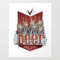Beers Art Print