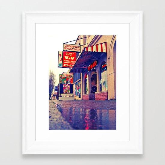 No MSG Framed Art Print