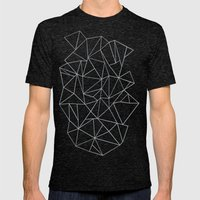 Abstraction Outline Grey Mens Fitted Tee Tri-Black SMALL